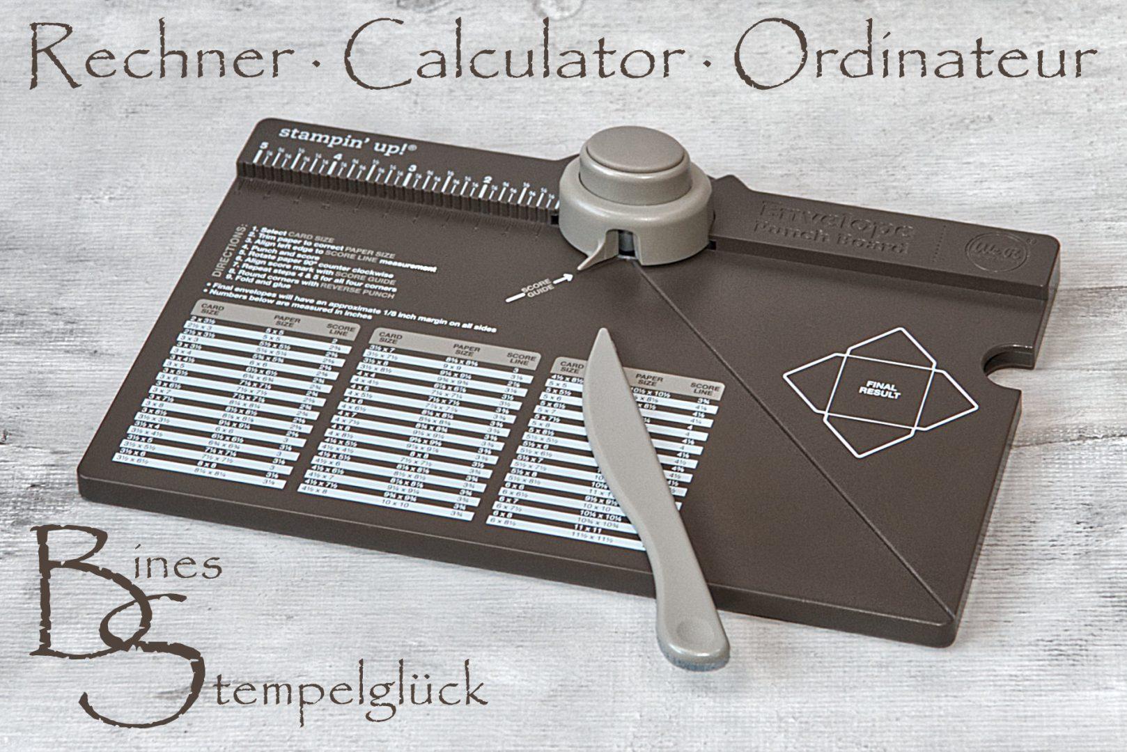 Rechner Falz- und Stanzbrett (Calculator Ordinateur)