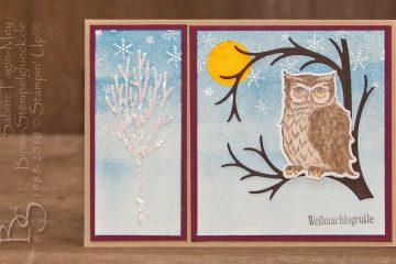Weihnachtskarte basteln mit dem Produktpaket Stille Nacht