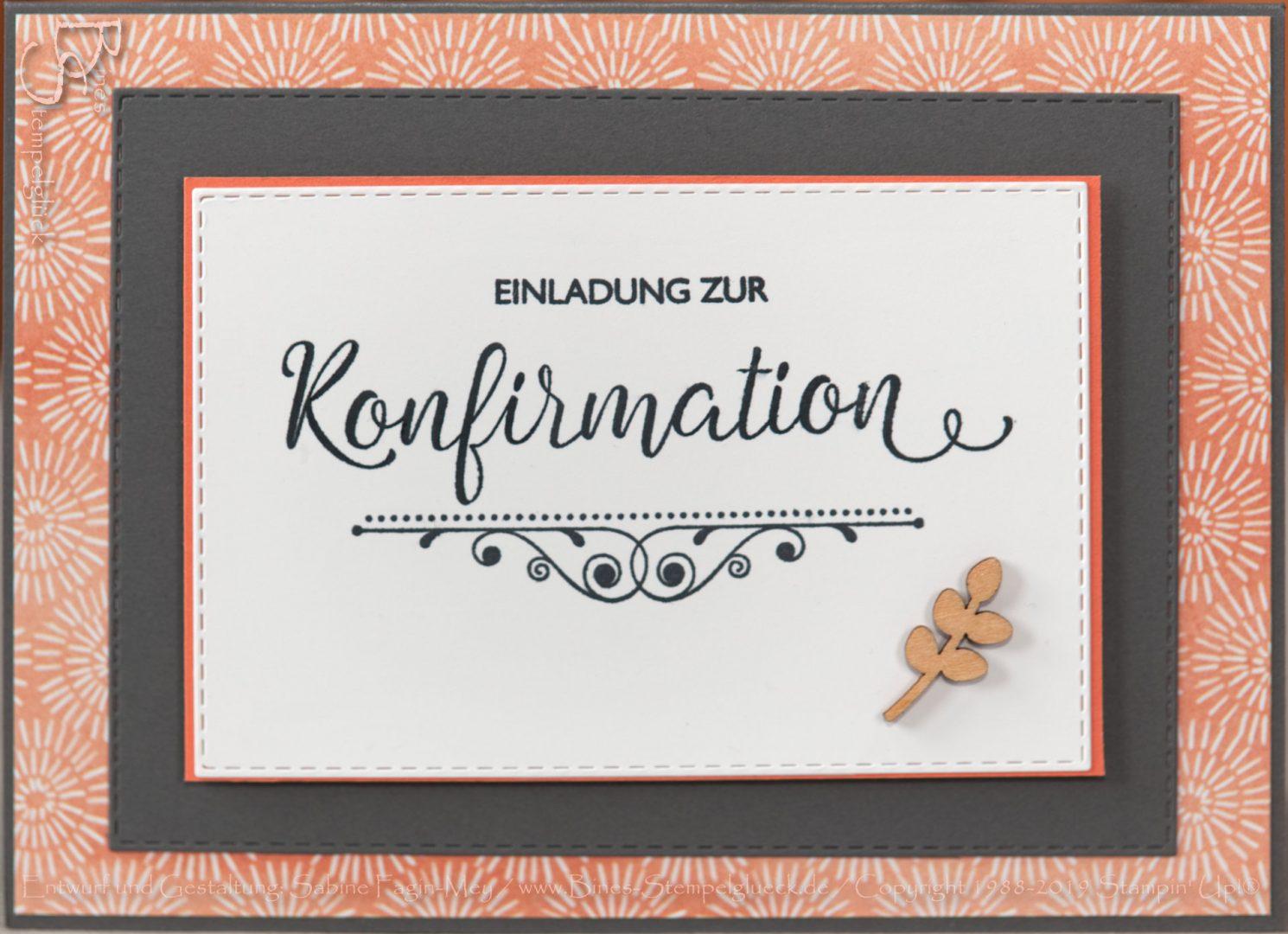 Einladungskarte zur Konfirmation selbst basteln