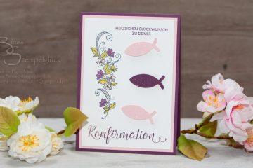 Konfirmationskarte/Kommunionskarte selbst basteln • Glückwünsche und Einladungen mit Produkten von Stampin' Up!