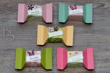 Selbstschließende Mini-Box mit Stampin' Up! Produkten