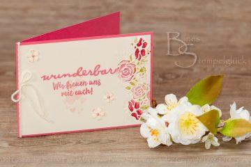 Hochzeitskarte selbst basteln mit Stampin' Up! Produkten