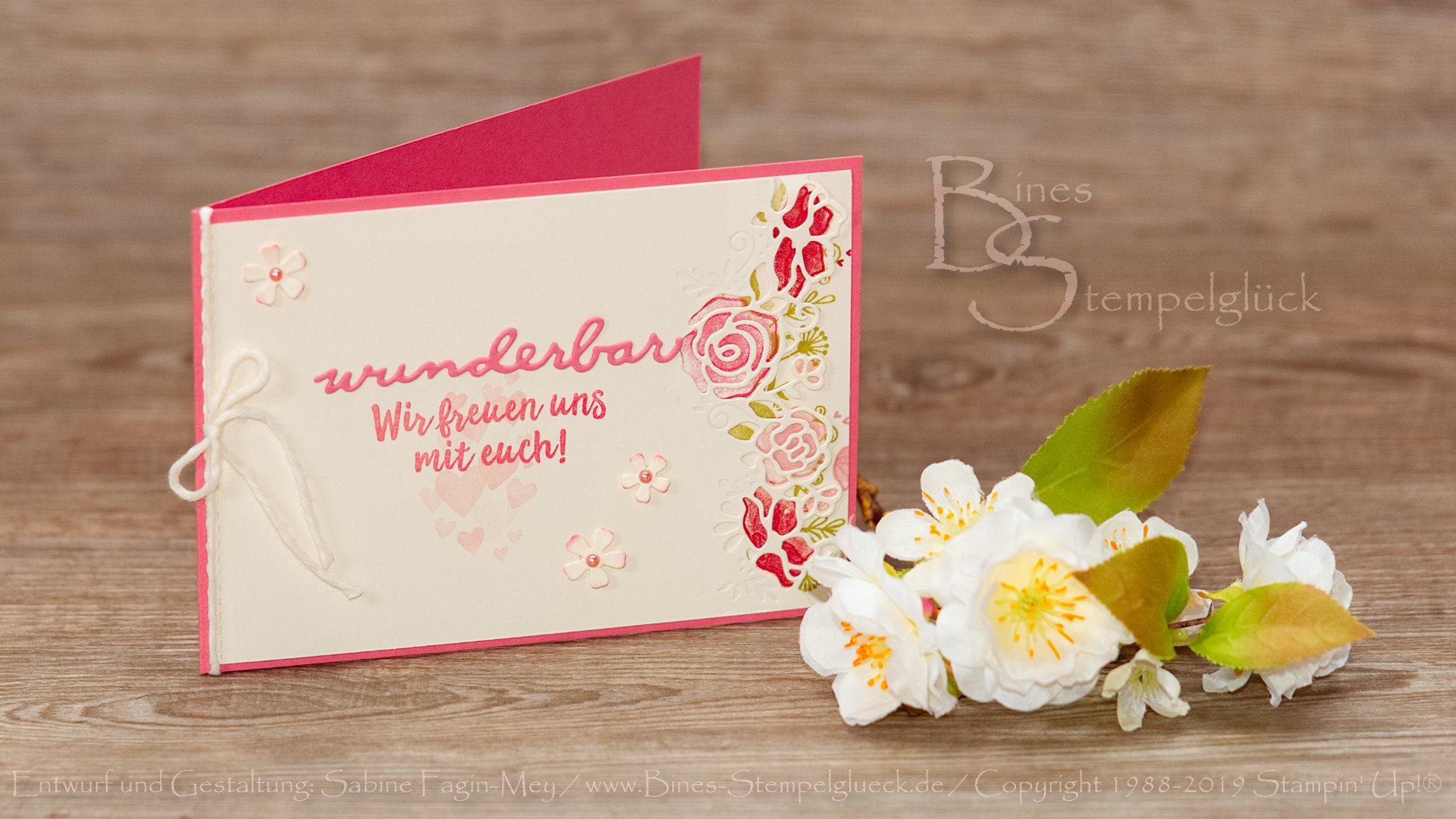 Hochzeitskarte selber basteln