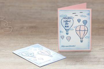 """Karte """"Über den Wolken"""" mit Stampen' Up!"""