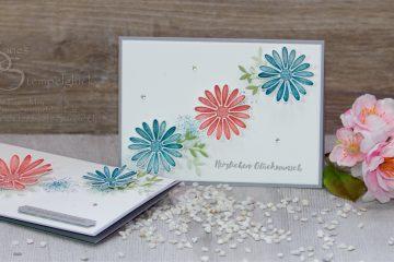 Elegante Karte Gänseblümchenglück
