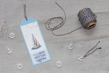 Geschenkanhänger Ahoi mit Stampen' Up! Produkten