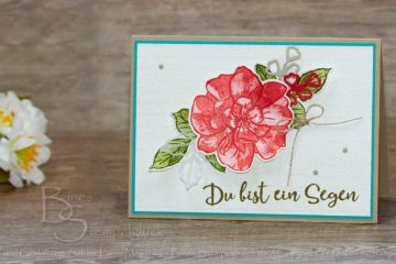 "Grußkarte ""Wilde Rose"" mit Stampin' Up! Produkten"