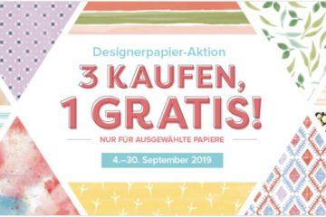 Sonderaktion Gratis-Designerpapier! von Stampin' Up!