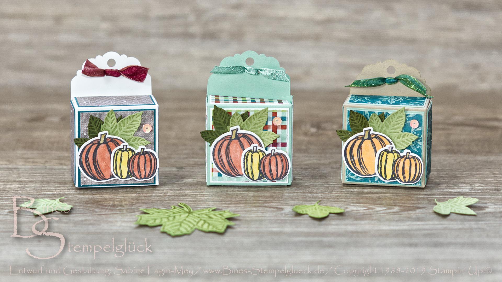 """Knuffige Box """"Herbstfreuden"""" mit Stampen' Up! Produkten"""