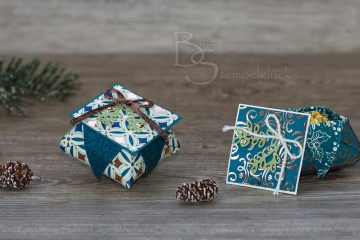 Origami Box mit Deckel basteln mit Stampin' Up! Produkten