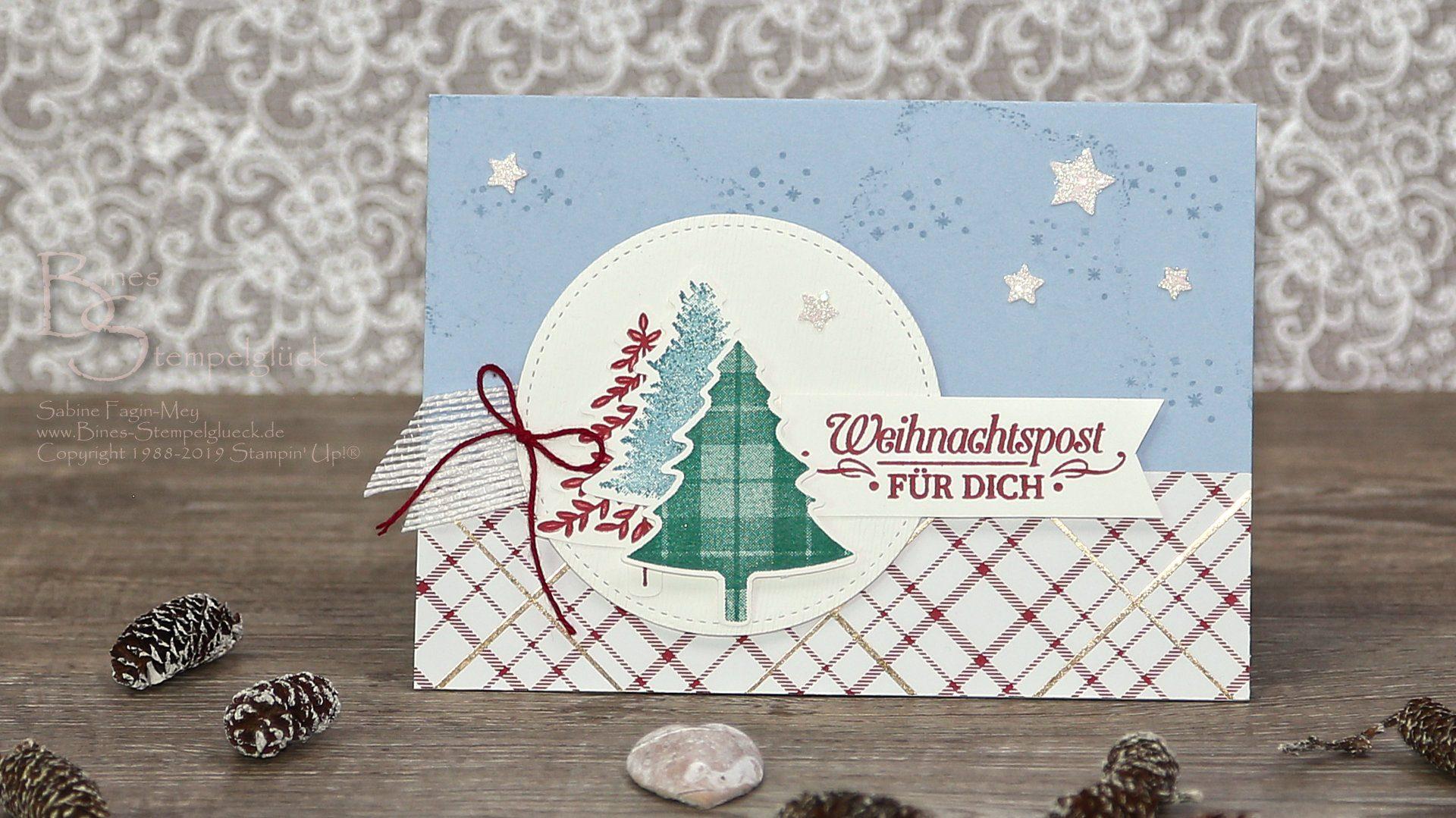 """Weihnachtskarte """"Weihnachtspost für Dich"""" mit Stampin' Up! Produkten"""