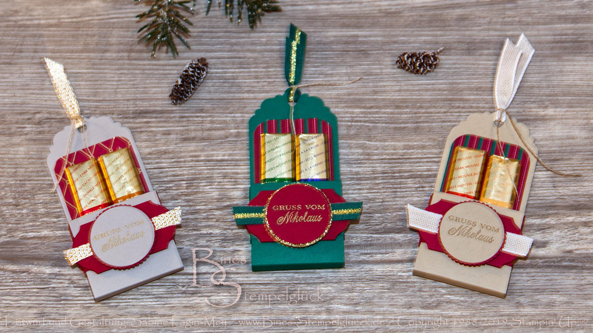 Goodie/Tischdeko für die Weihnachtstafel mit Stampin' Up! Produkten