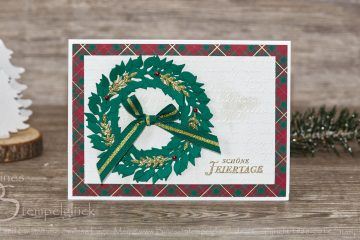 """Weihnachtskarte """"Schöne Feiertage"""" - Stampin' Up!"""