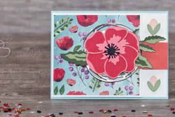 Fun Fold Card Mohnblüten mit Stampin' Up! Produkten