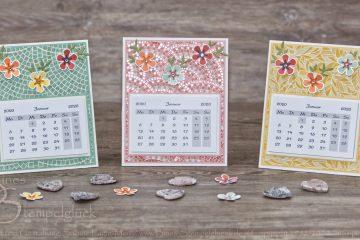 Tischkalender selbst basteln mit Stampin' Up! Produkten