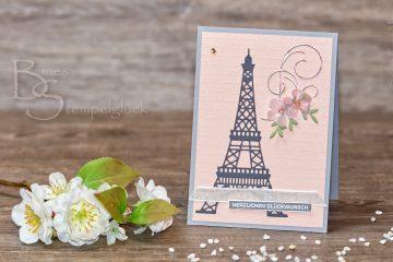 """Glückwunschkarte """"Frühling in Paris"""" mit Stampin' Up!"""