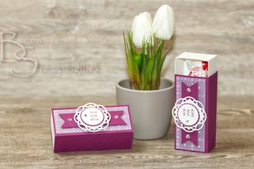 Praktische Matchbox / Schiebebox mit Stampin' Up!