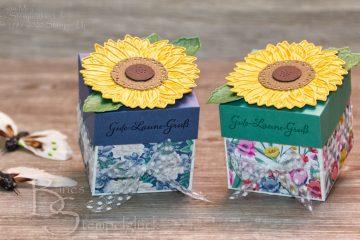Frühlingshafte Sonnenblumen Box mit Stampin' Up!