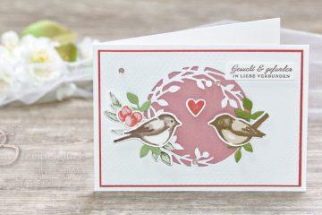 Hochzeitskarte / Glückwunschkarte basteln mit Stampin' Up!