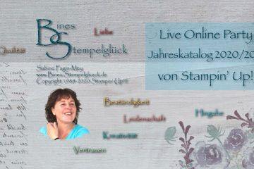 Live Online Party Stampin' Up! Jahreskatalog