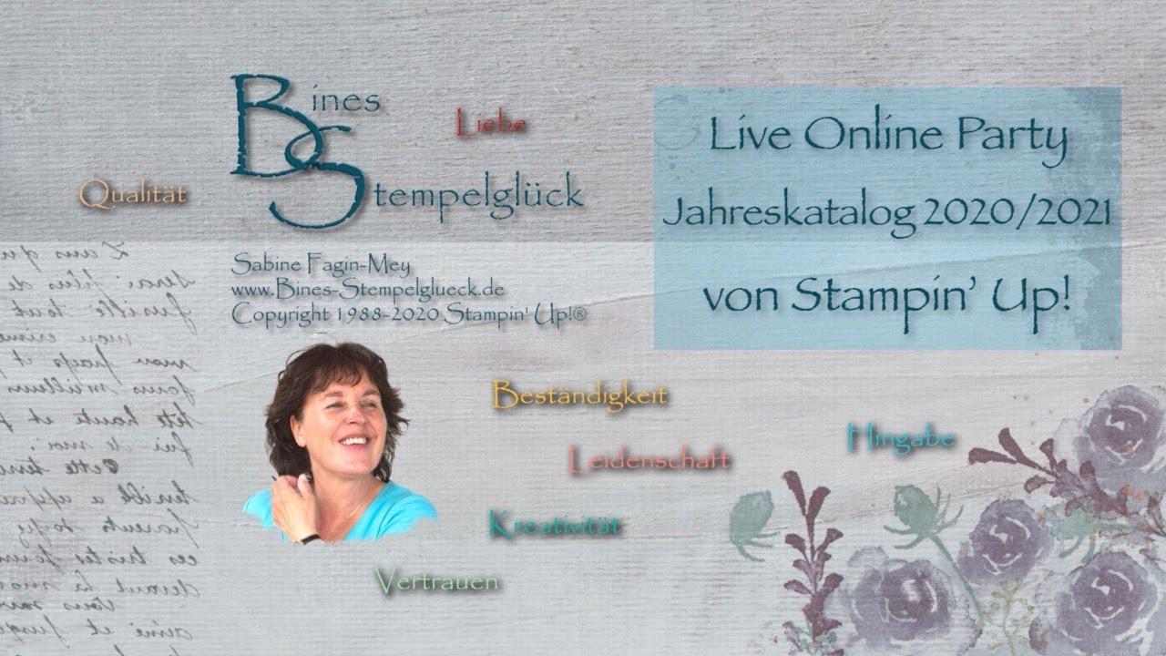 Live Online Party Stampin' Up! Jahreskatalog