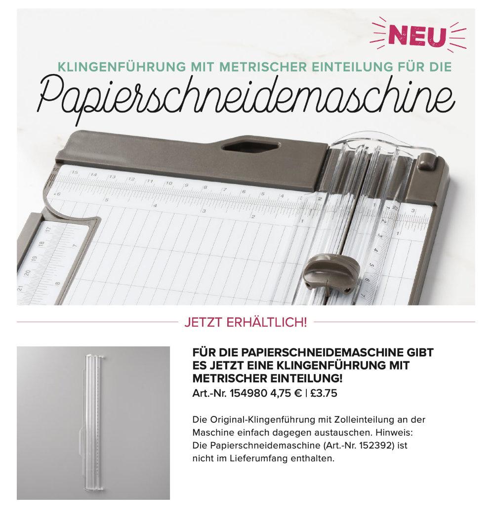 Neue Klingenführung für die Papierschneidemaschine von Stampin' Up!