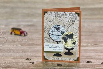 """Karte """"Welt der Abenteuer"""" mit Stampin' Up!"""