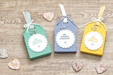 Vielseitige Mini-Geschenkschachtel mit Stampin' Up!