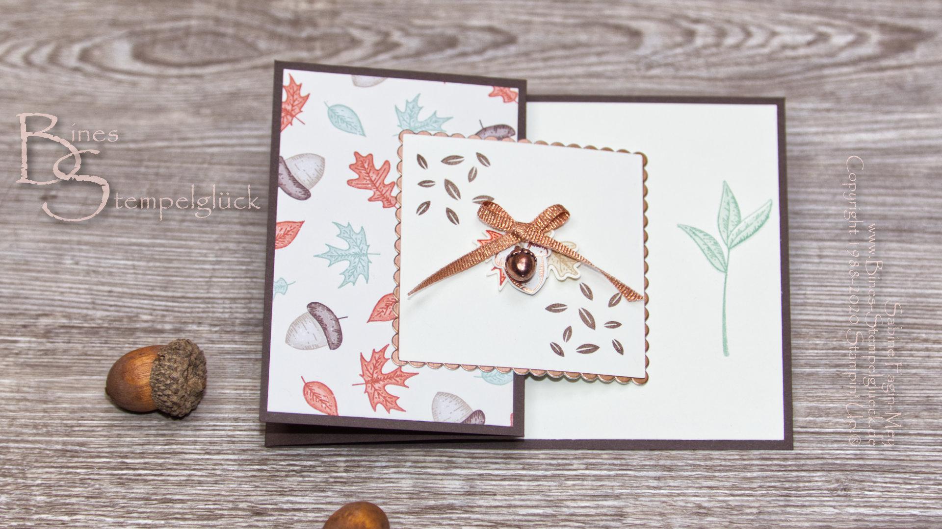 """Z Fold Card """"Schöner Herbst"""" mit Stampin' Up!"""