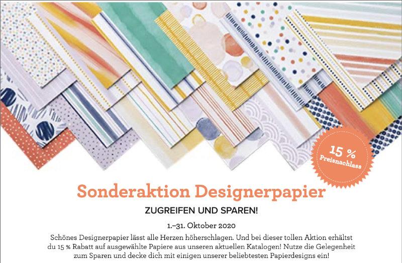 Sonderaktion Designerpapier mit Stampin' Up!