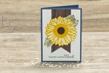 Sonnenblumen Karte mit Stampin' Up!