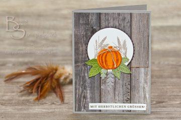 """Karte """"Herbstliche Grüße"""" von Stampin' Up!"""