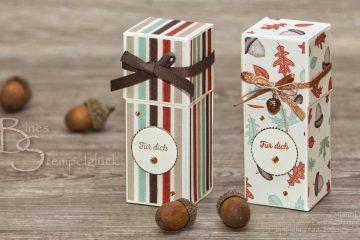 """Selbstschließende Box """"Goldener Herbst"""" mit Stampin' Up!"""