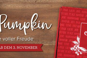 """Paper Pumpkin """"Feiertage voller Freude"""" von Stampin' Up!"""