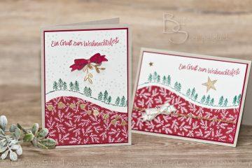 """Weihnachtskarte """"Geschwungene Weihnachten"""" mit Stampin' Up!"""