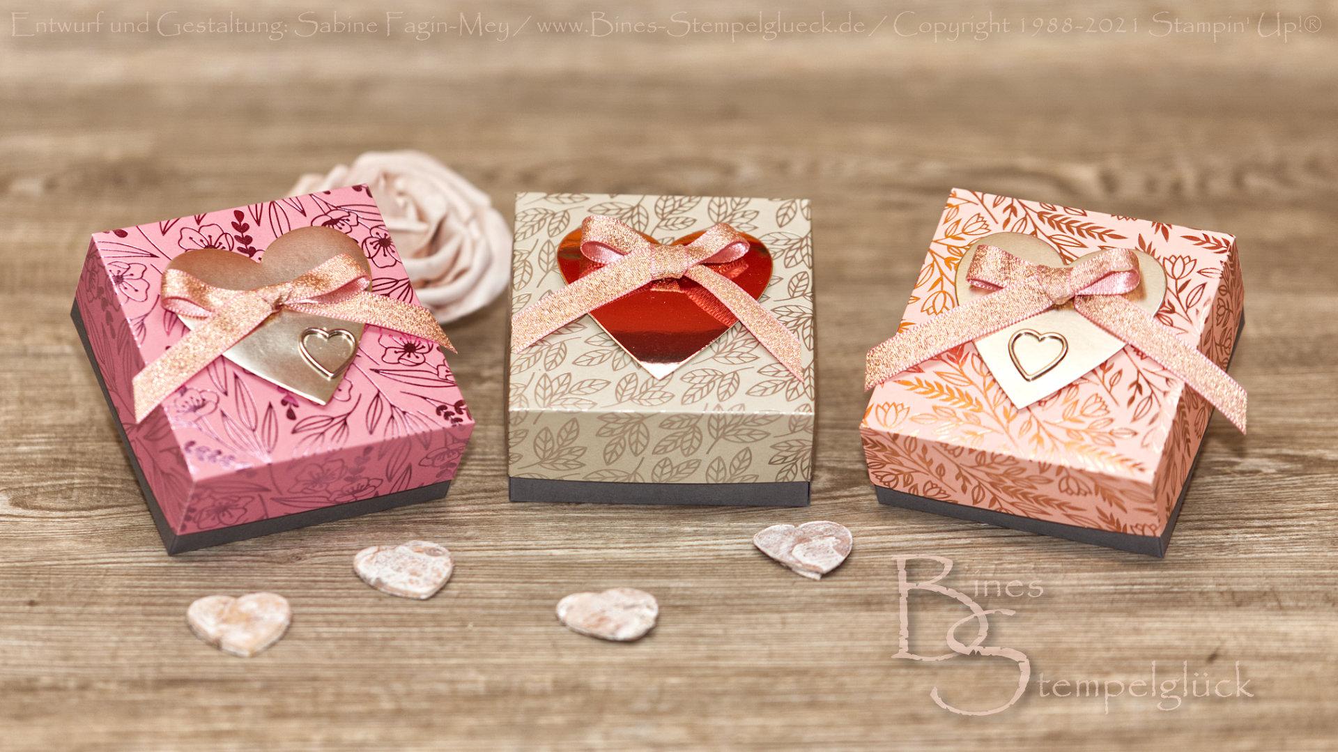 Happy Valentinsbox mit Botschaft mit Stampin' Up!