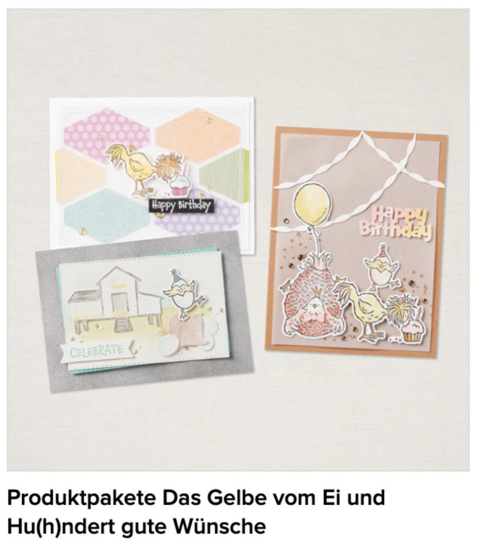 Produktpakete Das Gelbe vom Ei und Hu(h)ndert gute Wünsche von Stampin' Up!