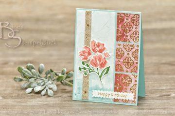 Geburtstagskarte Kunstvoll Floral mit Stampin' Up!