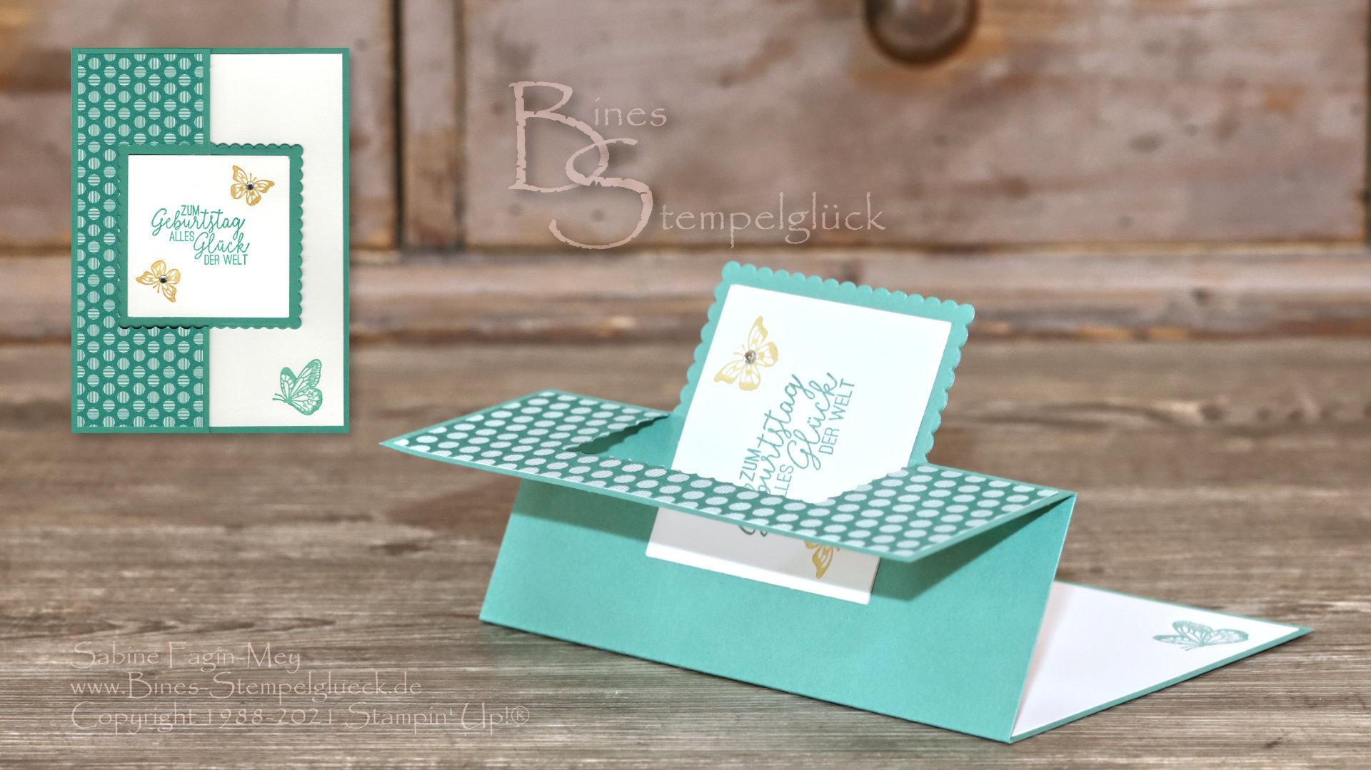 Swing Flip Karte zum Geburtstag mit Stampin' Up!