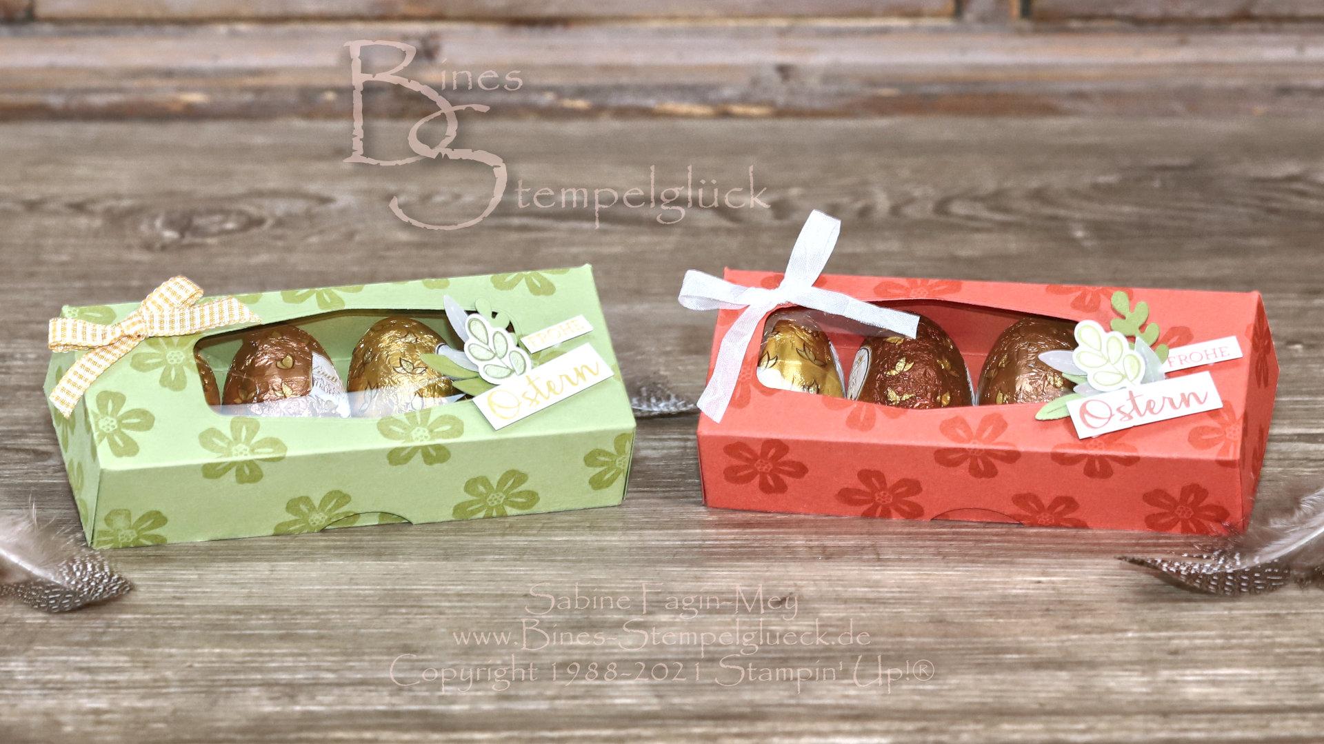 Süße Ostereierbox mit Sichtfenster - Stampin' Up!