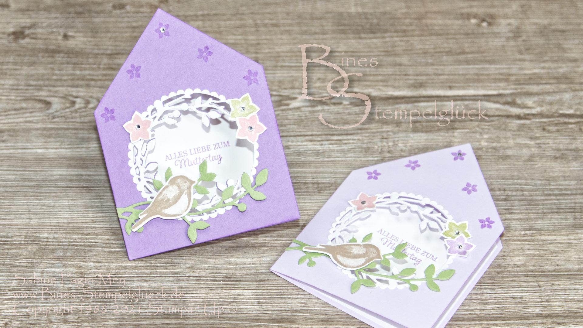 Pfiffige Haus-Karte zum Muttertag mit Stampin' Up!