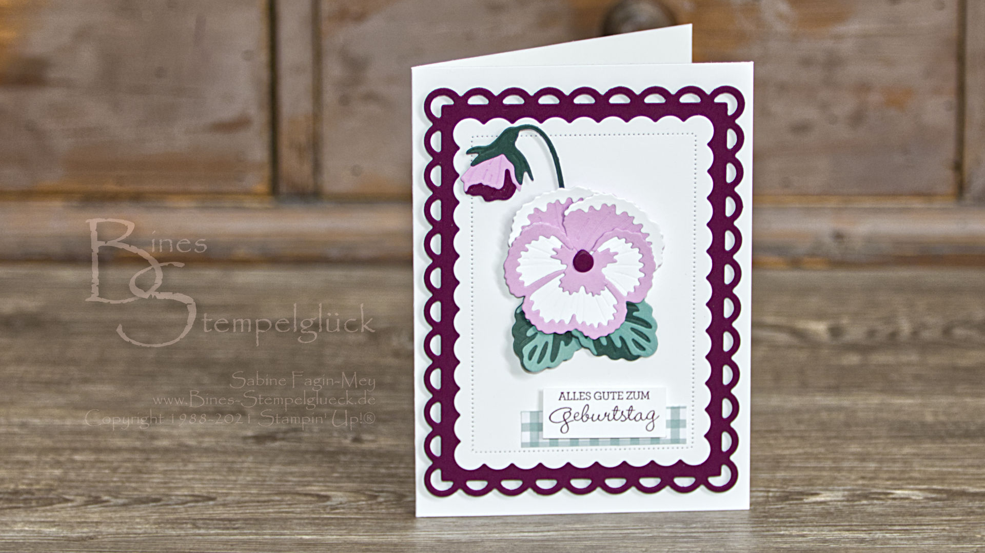 Geburtstagskarte Stiefmütterchen mit Stampin' Up!