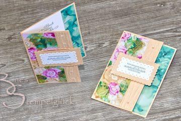 Fun Fold Card Tintenkunst mit Stampin' Up!