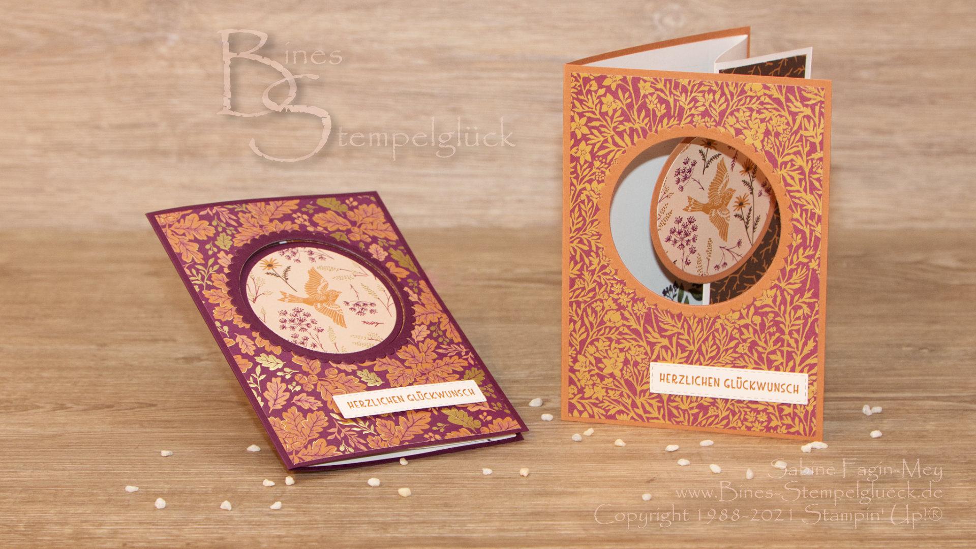 Raffinierte Peek-A-Boo Tri Fold Card mit Stampin' Up!