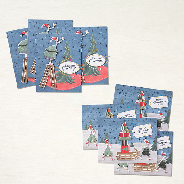 """Kartenset """"Verspielte Weihnachten"""" von Stampin' Up!"""