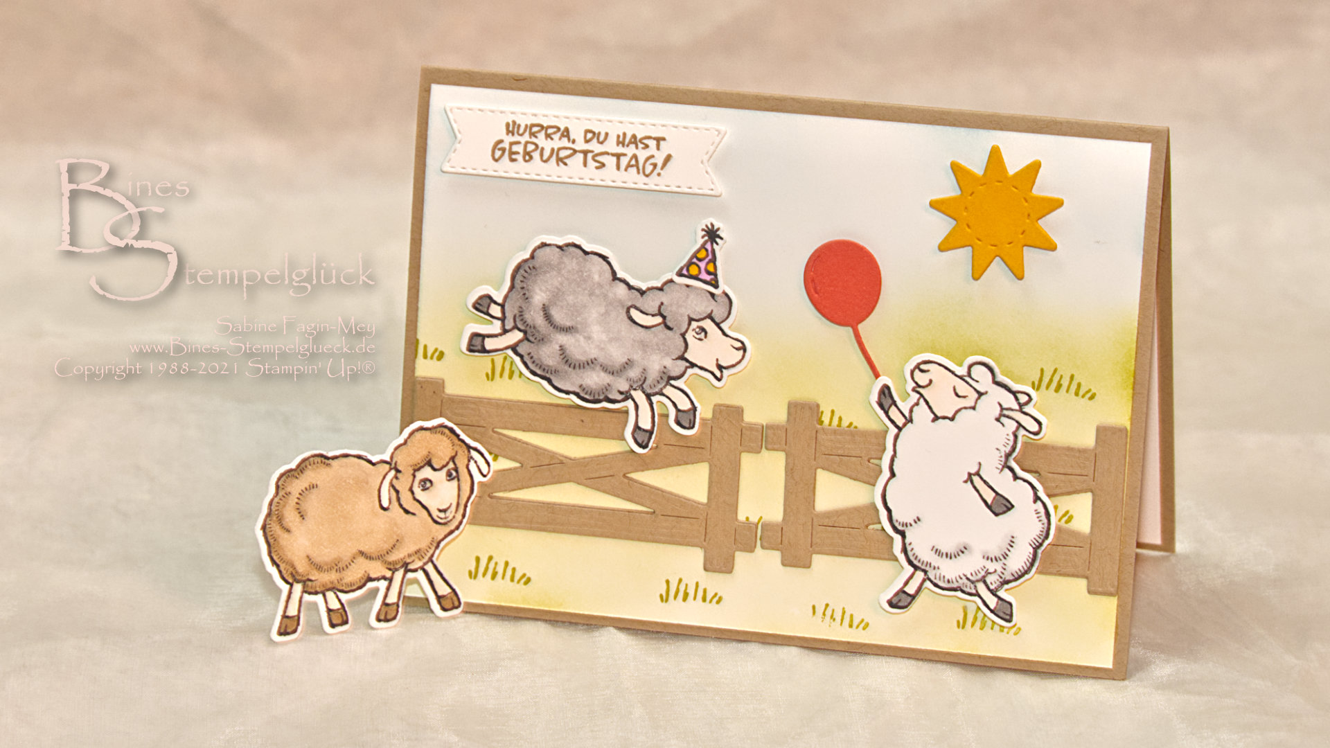 "Geburtstagskarte ""Knuddelgrüße"" mit Stampin' Up!"