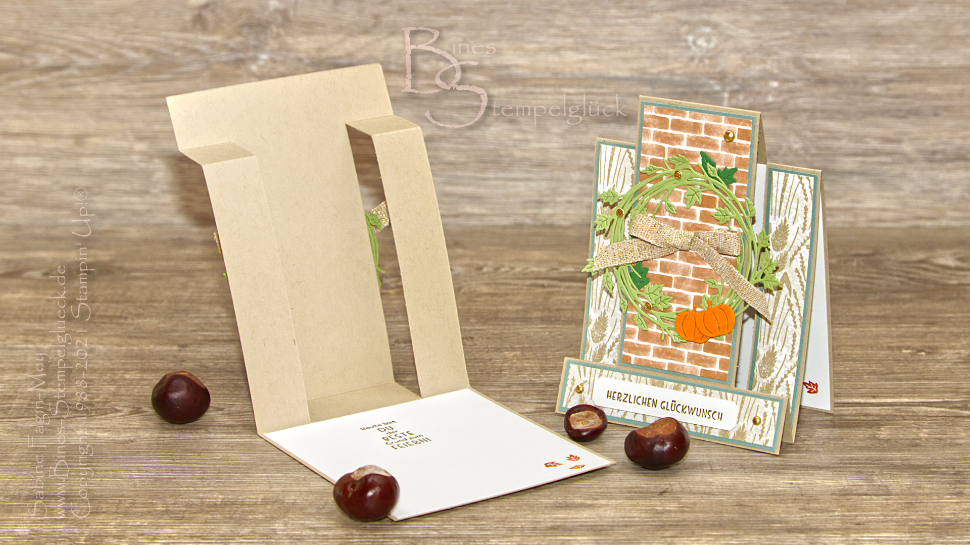 Center Step Card mit Stampin' Up!